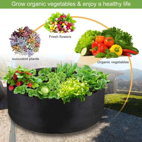 Gallons Fabric Garden Raised Bed Round Planting Container Grow Bags Fabric Planter Pot For Plants Nursery Pot 4.8