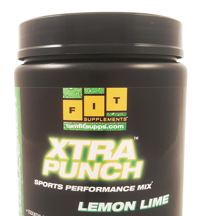 Fit Supplements Xtra Punch Recovery & Hydration Drink Lemon Lime 525 grams
