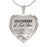 Heart Necklace - Always Be There love you mom