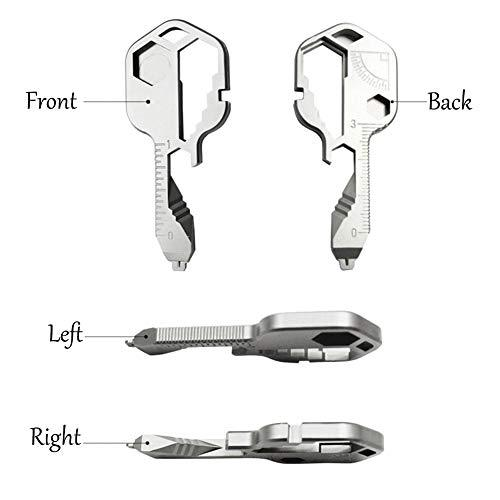Key Shaped Pocket Tool,24 in 1 Multifunctional Tool