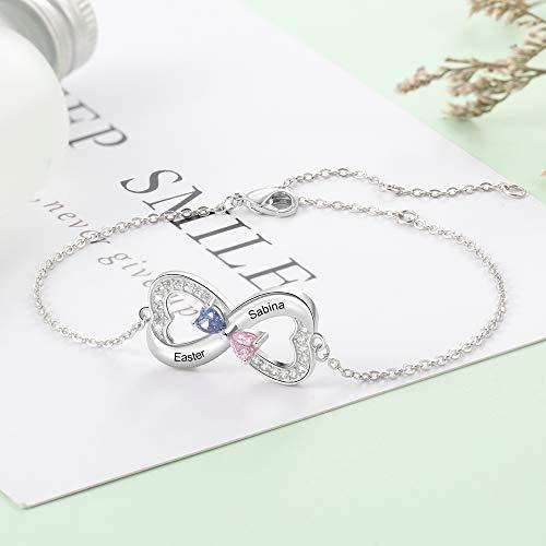 Infinity 2 Names Necklace