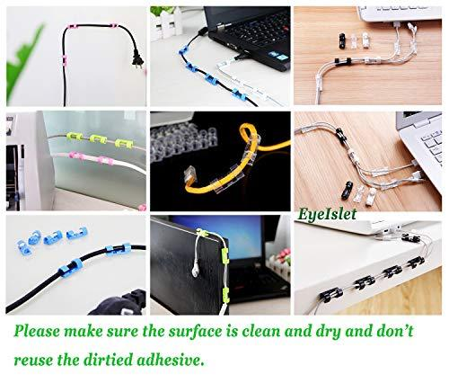 Cable Clamp Self-Adhesive Cable Clips Organizer Drop Wire Rope Holder 20 Pack