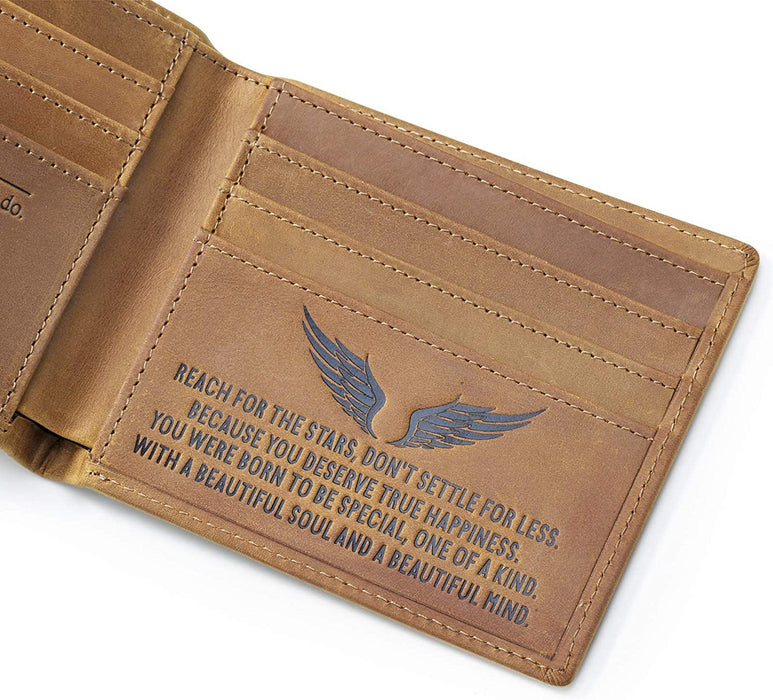 RFID Blocking Mens Wallet,Bifold Wallets,Personalized Wallets