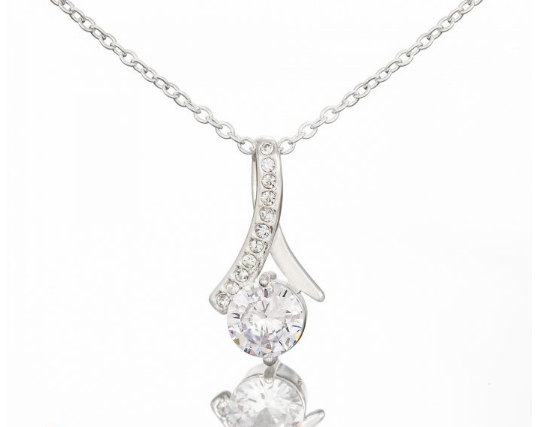 TO MY GRANDDAUGHTER - WHITE GOLD NECKLACE