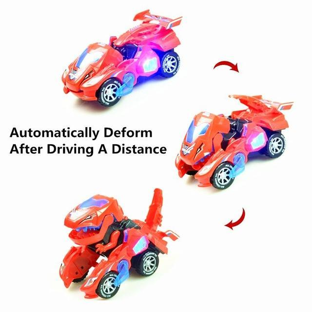 Transforming Dinosaur LED Car - full