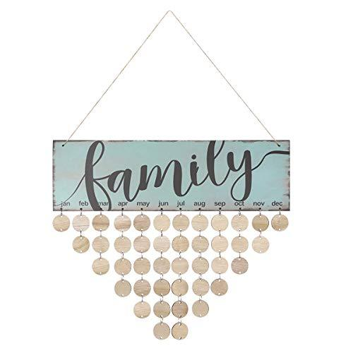 Birthday Reminder,Hanging Wooden Board,Family Board