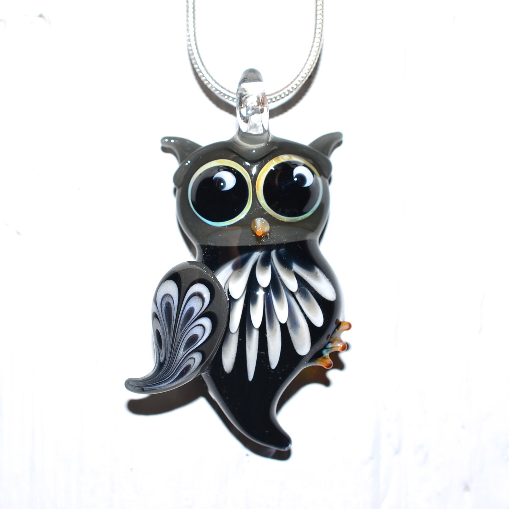 sterling swarovski pendant crystals jewelry crystaluxe silver with owl in