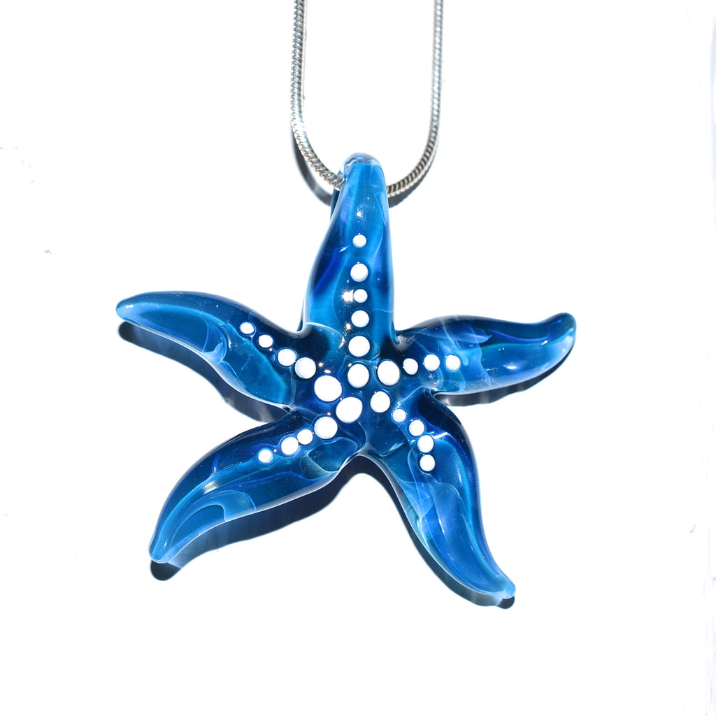 Glass Ocean Starfish Necklace