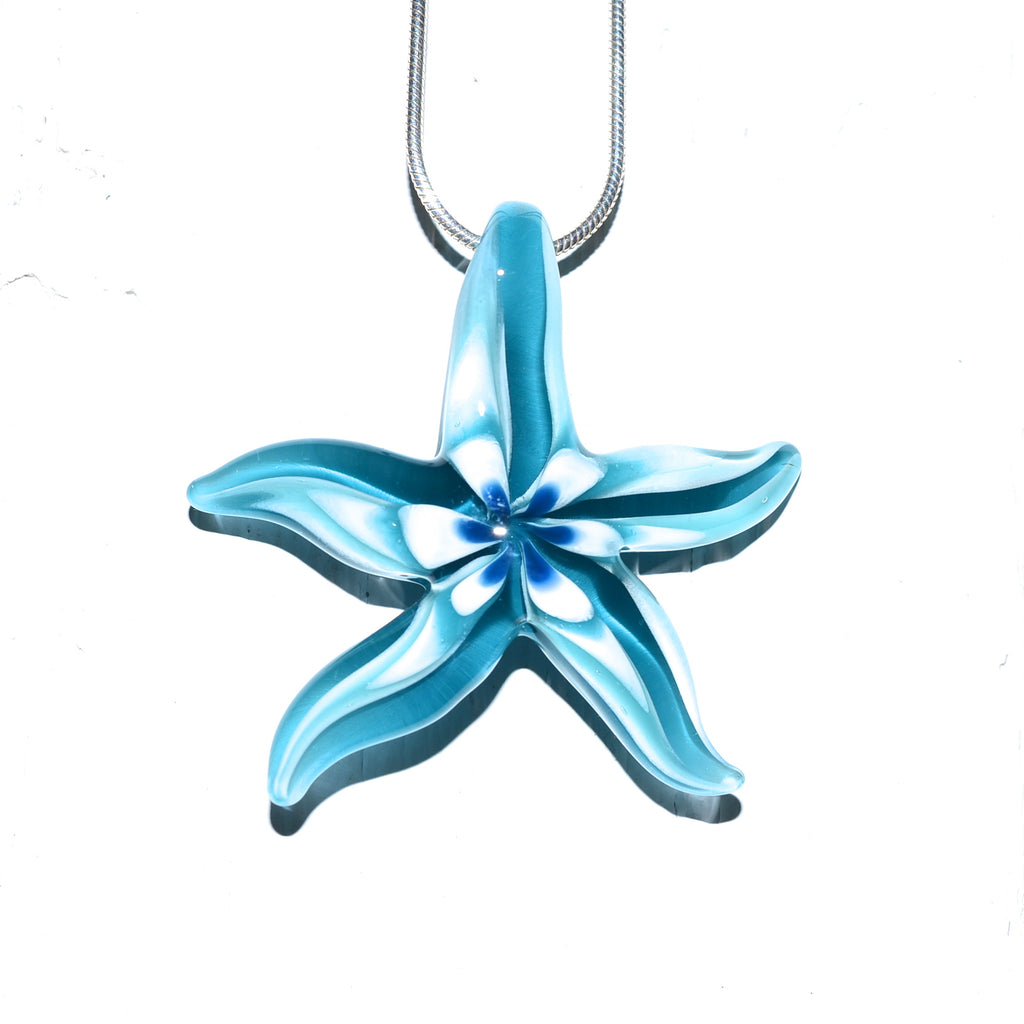 "Glass Starfish ""Seastar"" Necklace"