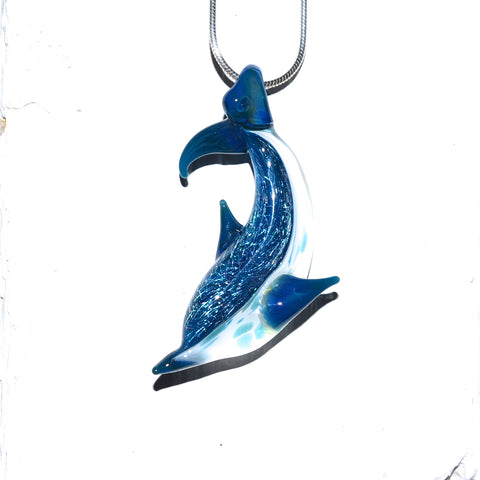 Glass Dolphin Necklace