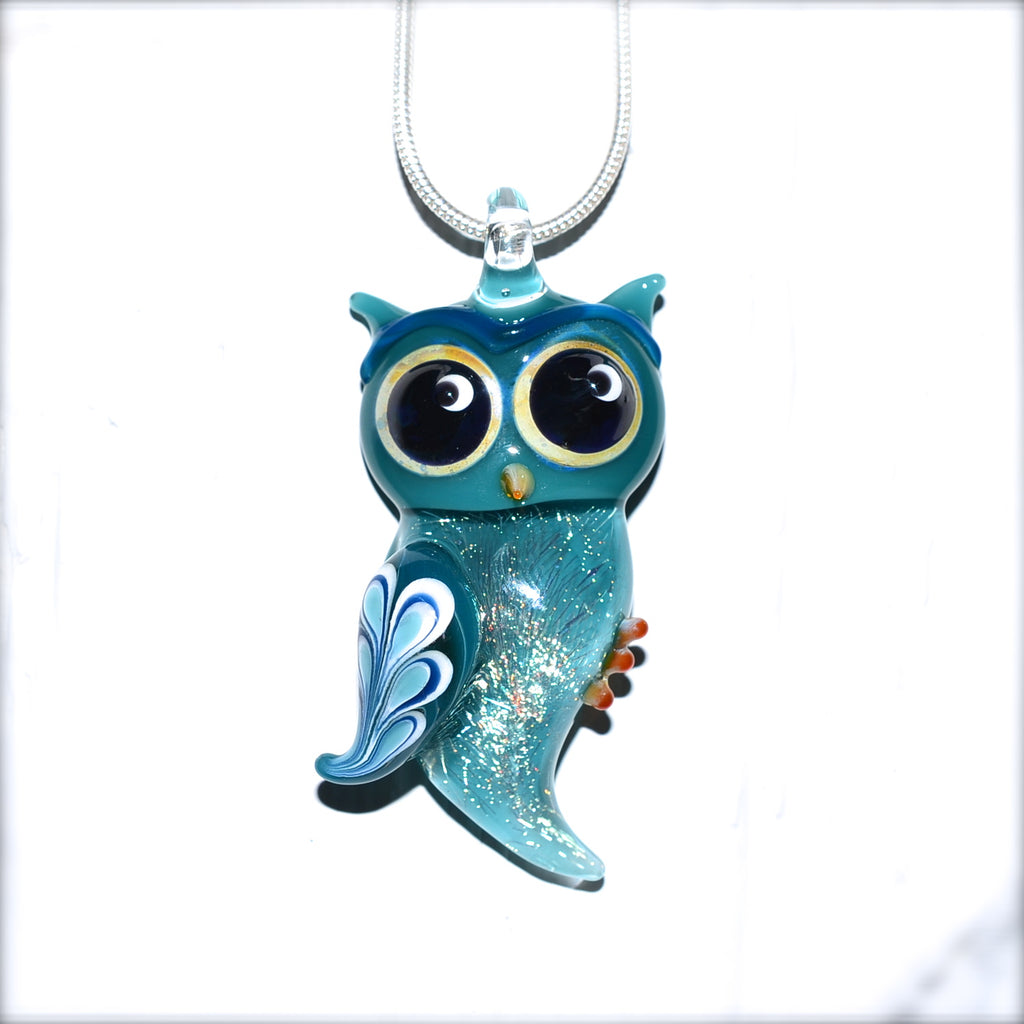 Glass Owl Necklace