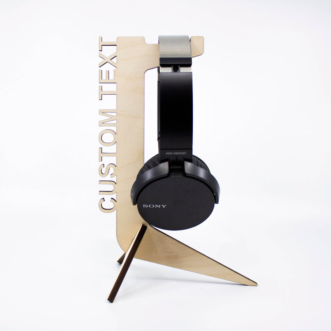 Personalised Wooden Headphone Stand