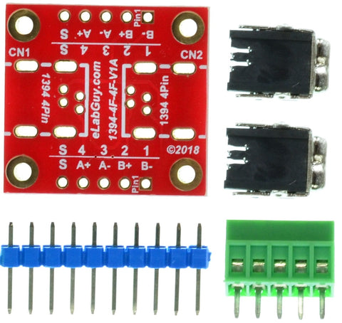 1394-4F-4F-V1A FireWire IEEE 400 4 pin Female to Female pass-through adapter breakout board