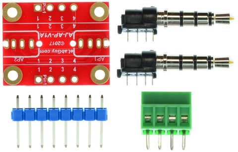 AP-AP-V1A 3.5mm stereo audio plug to 3.5mm stereo audio plug pass-through adapter breakout