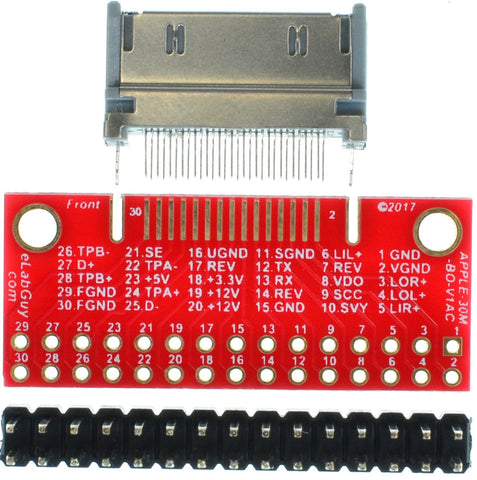 APPLE-30M-BO-V1AC Apple 30-pin Male Plug breakout board (compact type)
