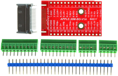 APPLE-30M-BO-V1A Apple 30-pin Male Plug breakout board