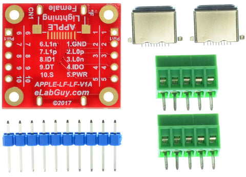 APPLE-LF-LF-V1A Apple Lightning Female to Female pass-throught adapter breakout