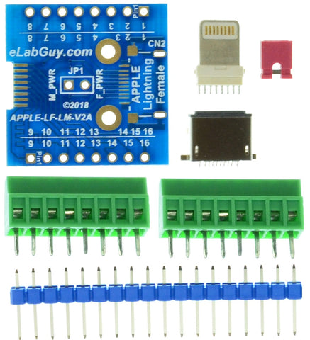 APPLE-LM-LF-V2A Apple Lightning Male to Female passthrought adapter breakout board