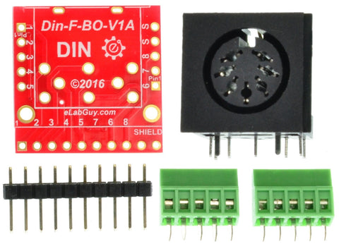 Din 7 Female connector breakout board components