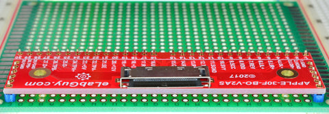 APPLE-30F-BO-V2AS eLabGuy Apple 30-pin Female connector breakout board side