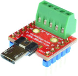 USBu-BM-BO-V3A, Micro USB Type B Male socket breakout board
