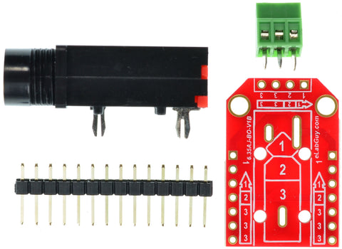 6.35mm stereo audio jack breakout board components