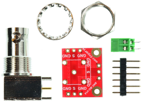 BNC Female connector breakout board components
