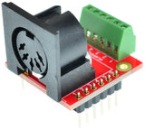 MIDI connector Din 5 Female breakout board screw terminal blocks