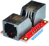 RJ11-F-F-V1A, RJ11 6P6C Female to RJ11 6P6C Female pass through adapter breakout