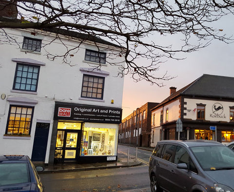 Barewall Gallery in Burslem, Stoke on Trent with parking spaces