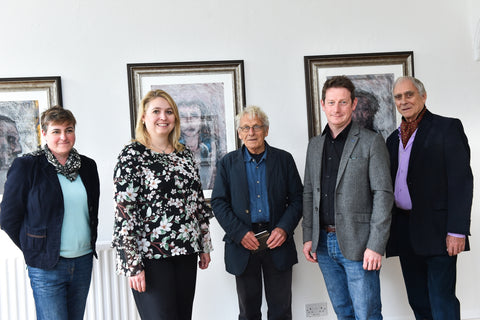 The Secretary of State for culture Media and Sport Karen Bradley MP, The Foxlowe Team, and Amanda Bromley from The Barewall Gallery.