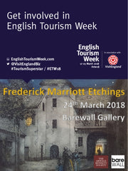 Frederick Marriott Etchings 24th March 2018 with Arnold Bennett Society at Barewall Art Gallery, Burslem, Stoke on Trent