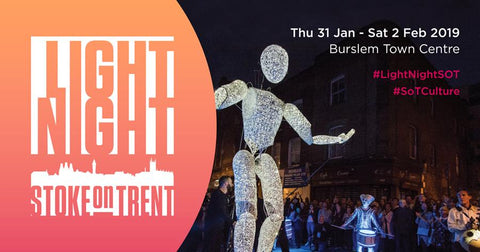 Light Night Stoke on Trent: Burslem Town Centre - Watch the City Glow 31 Jan to 2 Feb 2019