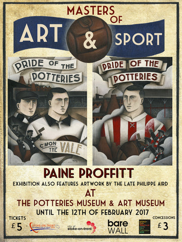 Masters of Art and Sport featuring Paine Proffitt and Philippe Aird continues to 12th Feb 2017