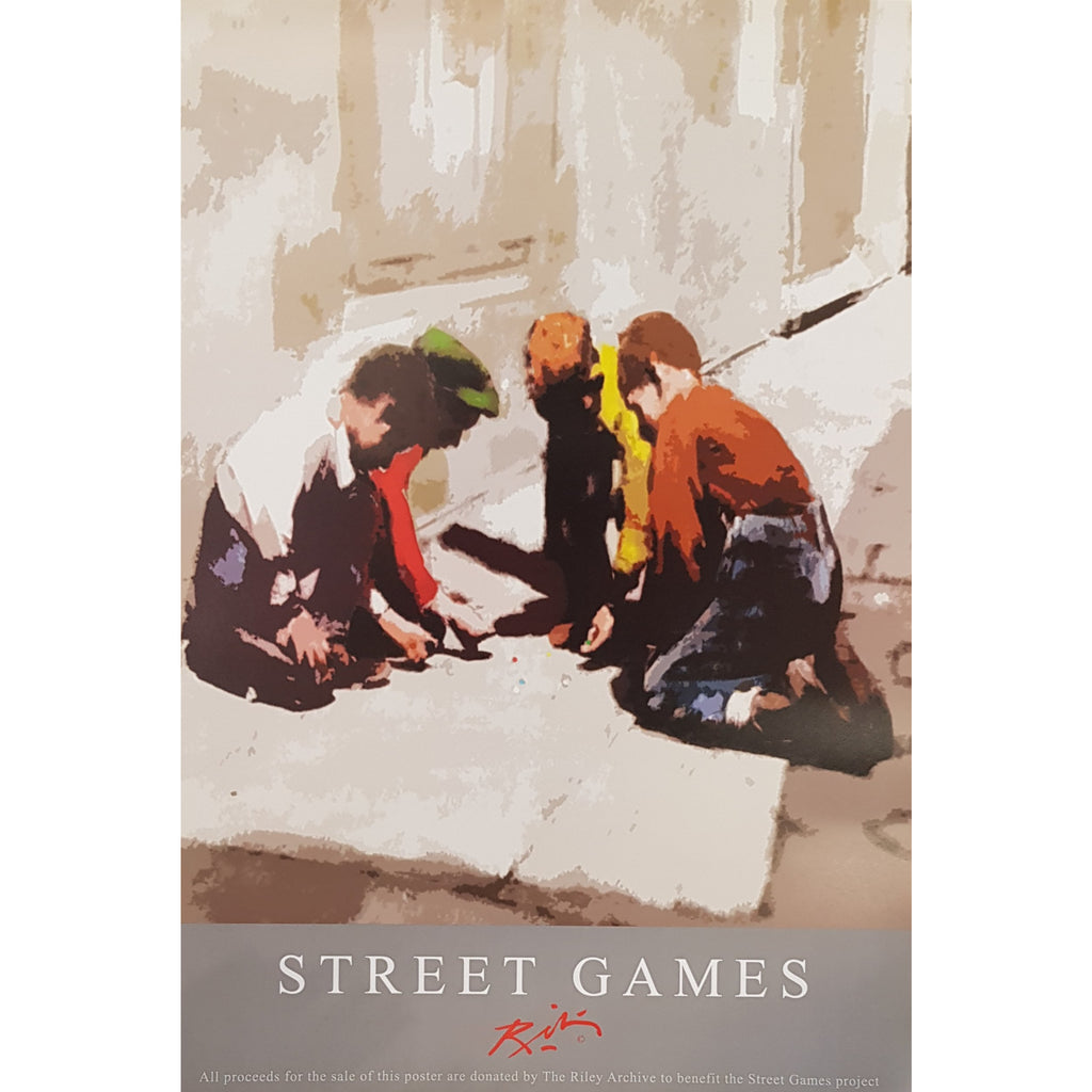 Street Games Poster by Harold Riley for Street Games UK