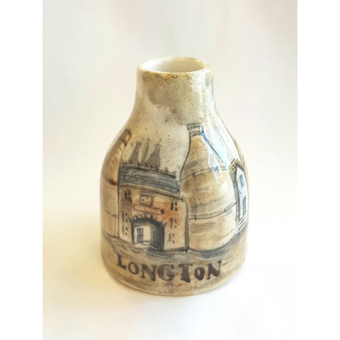 Small Longton Bottle Shaped Vase Hand Painted by Lyn James