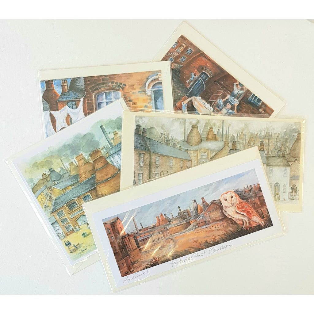 Potteries Greeting Cards by Lyn James