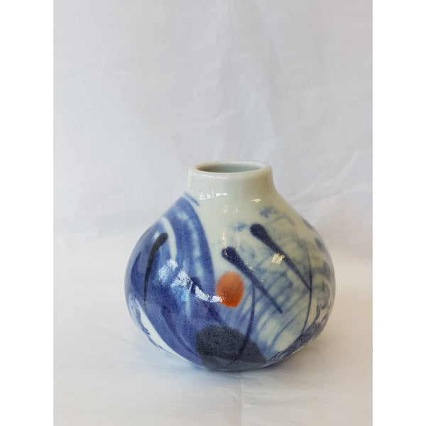 Blue and White Porcelain Ceramic Vases by Andrew Matheson RBSA