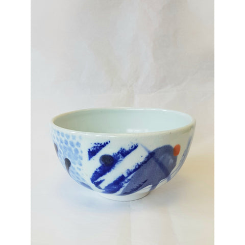 Blue and White Porcelain Bowl by Andrew Matheson RBSA