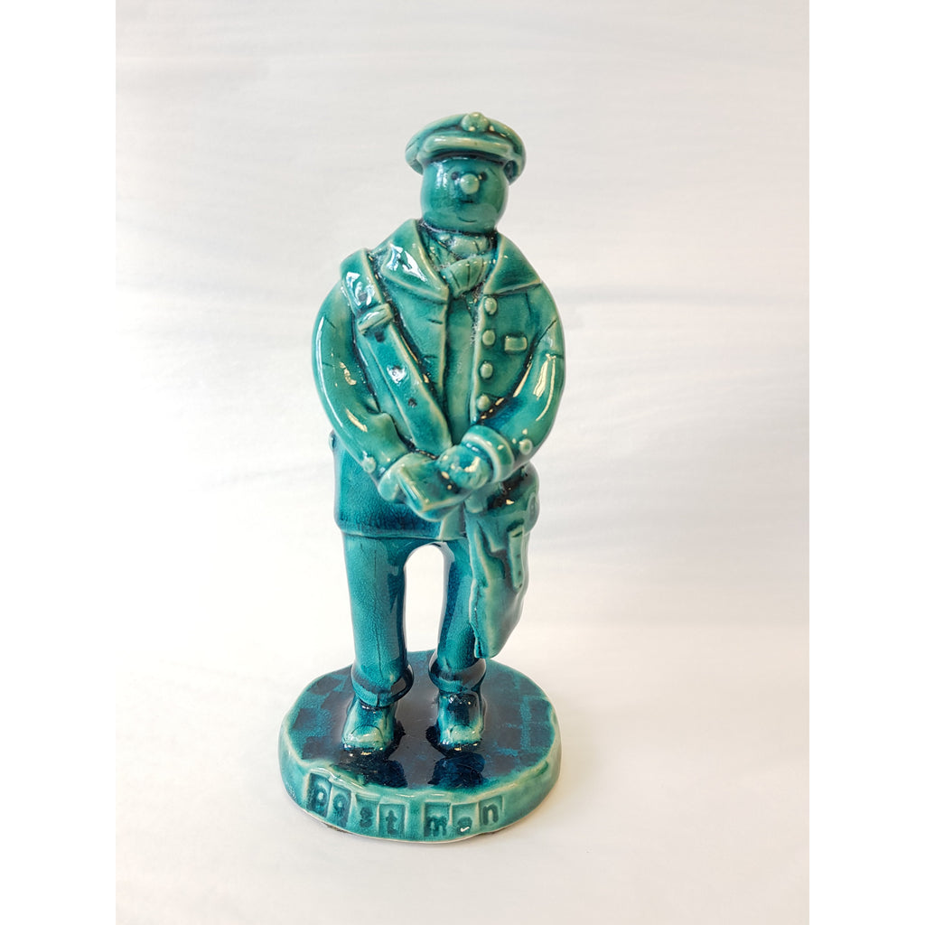 Post Man Ceramic Figure by Ian Tinsley Pottery