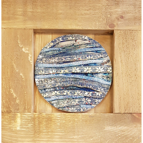 Oak Framed Handmade glazed ceramic Platters by Hazel Higham