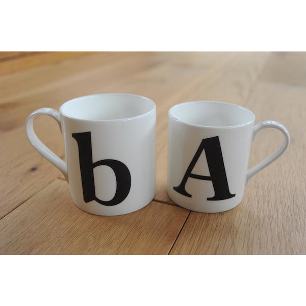 Alphabet Mug Fine Bone China Gift by The Pot Bank