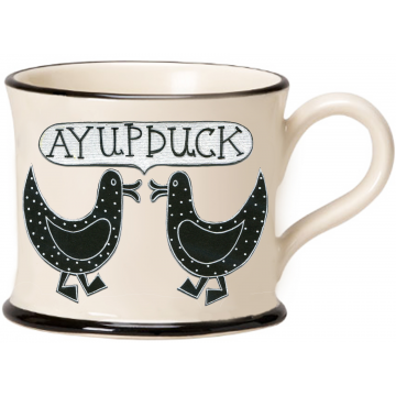 Ay Up Duck Pair Mug by Moorland Pottery