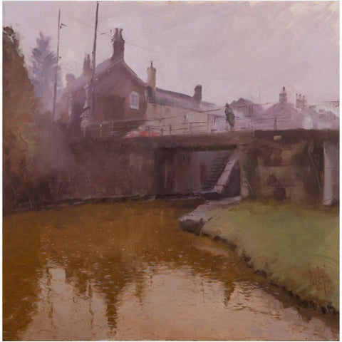 Below Thurlwood Lock, drizzle by Rob Pointon