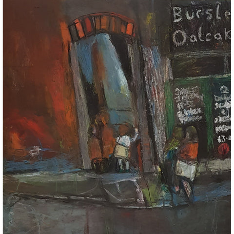 IM024 Burslem Oatcakes (after Joan Eardley) by Ian Mood