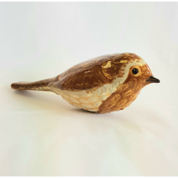 The Robin Slipware Ceramic British Birds by Carole Glover