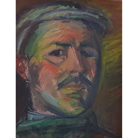 EN05Oil Head of a Man c1950s by Enos Lovatt