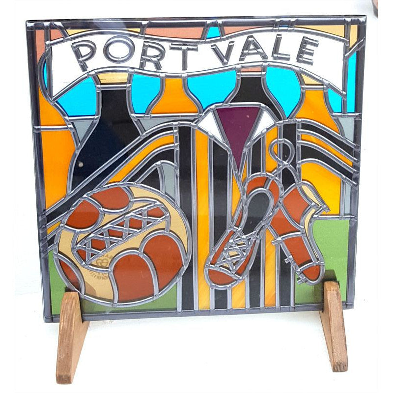 Port Vale Football Suncatcher by Hedgeberry Glass