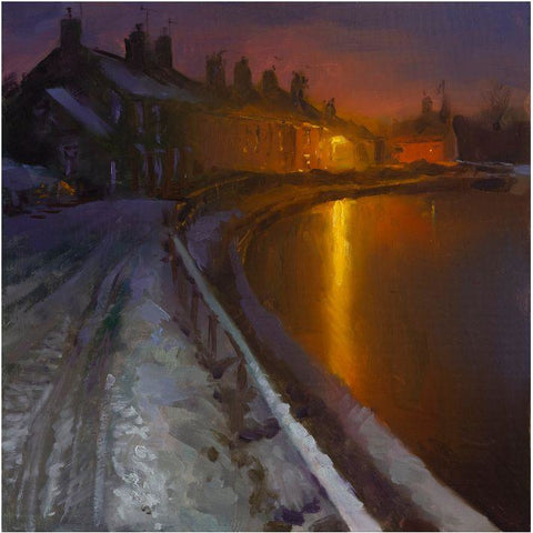 Frozen Canal Nocturne, Low Street, Rode Heath by Rob Pointon