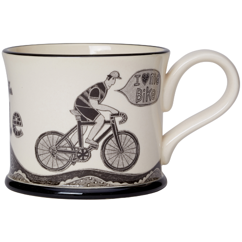 I Love Me Bike Mug - (Male) by Moorland Pottery